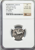 Ancients:Greek, Ancients: ACARNANIA. Leucas. Ca. 375-350 BC. AR stater (8.47gm)....