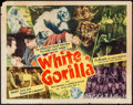 "Movie Posters:Adventure, White Gorilla (Louis Weiss, 1945). Half Sheet (22"" X 28"").Adventure.. ..."