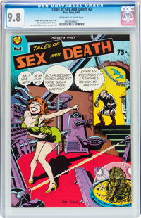 Tales of Sex and Death #2 (Print Mint, 1975) CGC NM/MT 9.8 Off-white to white pages