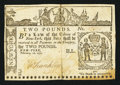 Colonial Notes:New York, New York February 16, 1771 £2 Fine-Very Fine.. ...