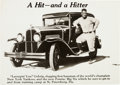 "Baseball Collectibles:Photos, 1929 Pontiac ""A Hit - and a Hitter"" Lou Gehrig Ad Production ArtPhoto. ..."