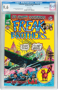 The Fabulous Furry Freak Brothers #6 Haight-Ashbury pedigree (Rip Off Press, 1980) CGC NM+ 9.6 White pages