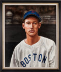 Baseball Collectibles:Others, 2011 Ted Williams Original Oil Painting by Lisa Ober....