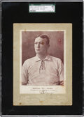 Baseball Collectibles:Others, 1902-11 W600 Sporting Life Cabinet Signed by Cy Young, SGC 40 VG3....