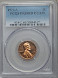 Proof Lincoln Cents, 1973-S 1C PR69 Red Deep Cameo PCGS. This lot also includes: 1974-S 1C PR69 Red Deep Cameo PCGS; 1975-S 1C PR69 Red De... (Total: 4 coins)