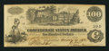 "Confederate Notes:1862 Issues, ""Bogus Back"" T39 $100 1862 PF-1 Cr. 289.. ..."