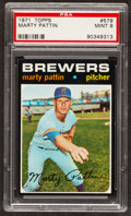 Baseball Cards:Singles (1970-Now), 1971 Topps Marty Pattin #579 PSA Mint 9....