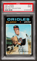 Baseball Cards:Singles (1970-Now), 1971 Topps Jim Palmer #570 PSA Mint 9....