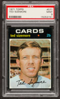 Baseball Cards:Singles (1970-Now), 1971 Topps Ted Sizemore #571 PSA Mint 9....