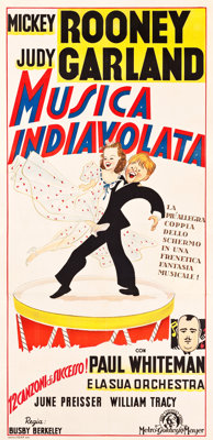 """Strike Up the Band (MGM, Late-1940s). First Post-War Release Large Italian Poster (39.5"""" X 81"""")"""
