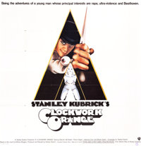 "A Clockwork Orange (Warner Brothers, 1971). Six Sheet (78"" X 75.5"")"