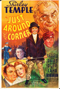 "Movie Posters:Musical, Just Around the Corner (20th Century Fox, 1938). Trimmed One Sheet(27"" X 40.25"") Style B. Musical.. ..."