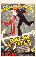 "Movie Posters:Musical, Follow the Fleet (RKO, R-1940s). Canadian One Sheet (26.5"" X 42"")....."