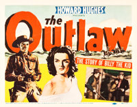 """The Outlaw (United Artists, 1941). Title Lobby Card (11"""" X 14"""")"""