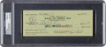 Football Collectibles:Others, 1958 Len Ford Signed Green Bay Check, PSA Gem Mint 10. ...