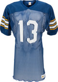 Football Collectibles:Uniforms, Early 1980's Dan Marino Game Worn University of Pittsburgh Panthers Jersey. ...