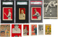 Baseball Cards:Lots, 1910's - 1940's Baseball Card Misprints, Miscuts and Oddities (12)With Ruth. ...