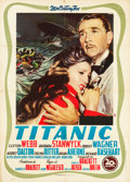 "Movie Posters:Drama, Titanic (20th Century Fox, 1953). Italian 2 - Foglio (39"" X 55"")....."