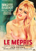 """Movie Posters:Foreign, Le Mepris (Cocinor, 1963). French Grande (44"""" X 62.5"""").. ..."""