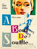 "Movie Posters:Foreign, Breathless (UGC DA, 1960). French Grande (47"" X 63.5"") HurelStyle.. ..."
