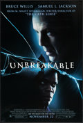 "Unbreakable & Others Lot (Buena Vista, 2000). One Sheets (3) (27"" X 40"") DS Dated Advance and Thanksgiving..."