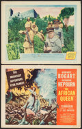 "Movie Posters:Adventure, The African Queen (United Artists, 1952). Title Lobby Card &Lobby Card (11"" X 14""). Adventure.. ... (Total: 2 Items)"