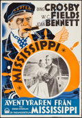 """Movie Posters:Comedy, Mississippi (Paramount, 1935). Swedish One Sheet (27.5"""" X 39.5"""").Comedy.. ..."""