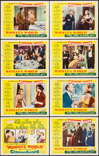 "Woman's World (20th Century Fox, 1954). Lobby Card Set of 8 (11"" X 14""). Drama. ... (Total: 8 Items)"