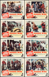 "Barbed Wire (Columbia, 1952). Lobby Card Set of 8 (11"" X 14"") and Uncut Pressbook (8 Pages, 12"" X 16""..."
