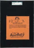 Baseball Cards:Singles (1930-1939), 1936 R301 Overland Candy Jimmy Foxx SGC 10 Poor 1. ...