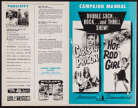 Girls in Prison/Hot-Rod Girl & Others Lot (American International, 1956). Uncut Pressbooks (16) (Multiple Pages, app...