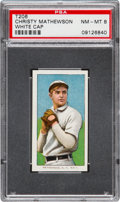 Baseball Cards:Singles (Pre-1930), 1909-11 T206 Piedmont Christy Mathewson White Cap PSA NM-MT 8....