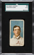 Baseball Cards:Singles (Pre-1930), 1909-11 T206 Sweet Caporal Eddie Plank SGC 30 Good 2....