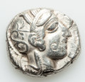 Ancients:Greek, Ancients: ATTICA. Athens. Ca. 454-404 BC. AR tetradrachm (17.09gm)....