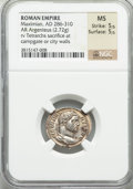 Ancients:Roman Imperial, Ancients: Maximian (AD 286-305). AR argenteus (2.72 gm)....