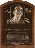 Baseball Collectibles:Others, 1966 Ted Williams Baseball Hall of Fame Bronze Induction Plaque, Personal Model....