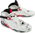 Basketball Collectibles:Others, 1992-93 Michael Jordan Game Worn & Signed Chicago BullsSneakers....