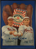 "Baseball Collectibles:Others, Circa 1934 Paul & Dizzy Dean ""Beech-Nut Tobacco"" OversizedDie-Cut Advertising Sign...."