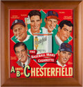 Baseball Collectibles:Others, 1947-48 Chesterfield Cigarettes Advertising Sign Featuring Williams, Musial, DiMaggio....