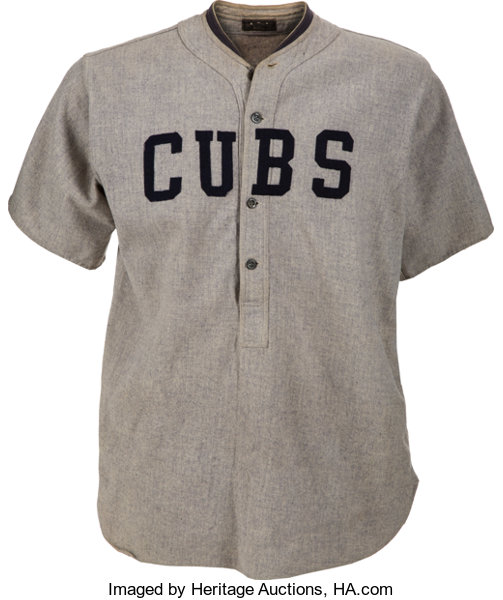 free shipping d278b c64ed Early 1920's Chicago Cubs Game Worn Jersey, MEARS A8 ...