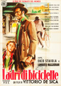 "Movie Posters:Foreign, The Bicycle Thieves (ENIC, R-1952). Italian 4 - Foglio (55"" X78"").. ..."
