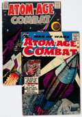 Golden Age (1938-1955):War, Atom-Age Combat #1 and 3 Group (St. John/Fago, 1958-59).... (Total:2 Comic Books)