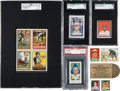 Baseball Cards:Lots, 1910's - 1930's Baseball and Non-Sports Stamp Collection (60+Items). ...