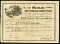 Confederate Notes:Group Lots, Ball 366 Cr. 154 $1000 1865 Six Per Cent Non Taxable Certificate.....