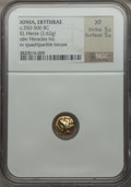 Ancients:Greek, Ancients: IONIA. Erythrae. Ca. 550-500 BC. EL 1/6th stater or hecte(10mm, 2.62 gm)....