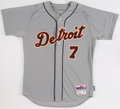 Baseball Collectibles:Uniforms, 2015 Brad Ausmus Game Worn Detroit Tigers Jersey with MLB Hologram. ...