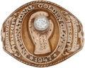 Boxing Collectibles:Memorabilia, 1947 National Golden Gloves Championship Ring. ...