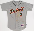 Baseball Collectibles:Uniforms, 2015 Ian Kinsler Game Worn Detroit Tigers Jersey with MLB Hologram....