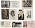 Baseball Cards:Lots, 1910's -1940's Baseball Honorees Blotter, Business and PromotionalCard Collection (18). ...