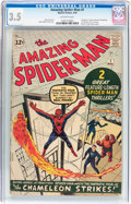 Silver Age (1956-1969):Superhero, The Amazing Spider-Man #1 (Marvel, 1963) CGC VG- 3.5 Off-whitepages....